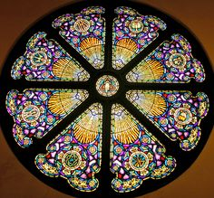 stainglass windows | Stained Glass Windows. The Circular Window In the Balcony
