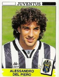 Football ©: Alessandro del Piero (Juventus and Italy). Football Icon, Retro Football, World Football, School Football, Vintage Football, Football Soccer, Football Trading Cards, Football Cards, Dreams