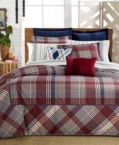 CLOSEOUT! Tommy Hilfiger Buckaroo Plaid Comforter Sets | macys.com