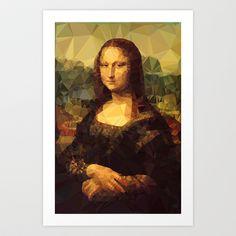 Mona Lisa | Polygon Art Art Print by Mirek Kodes Polygon Art, Mona Lisa, Princess Zelda, Art Art, Art Prints, Portrait, Painting, Fictional Characters, Wallpapers