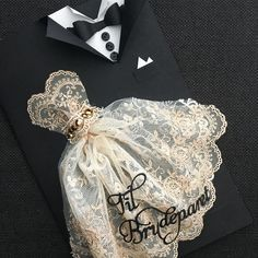 Wedding Cards Handmade, Handmade Birthday Cards, Creative Wedding Invitations, Diy Invitations, Wedding Scrapbook, Scrapbook Cards, Origami Wedding, Dress Card, Wedding Card Design