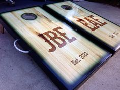 Custom Western Wood Burned Theme Cornhole Board Set by WGCornhole, $230.00