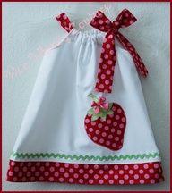 Baby girl clothes diy | Adorable Strawberry Dress