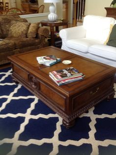 Coffee table in Family room