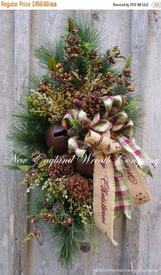 FREE SHIPPING THRU 11/11 Christmas Wreath by NewEnglandWreath