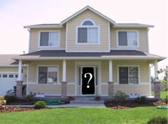 """Take a picture of your house.      Print an 8""""x10"""" of the picture.      Cut out the area for the front door.      Place different color paint chips in the opening to see which one you like best!"""