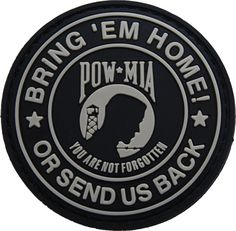 POW MIA rubber velcro morale patch   Shades of Gray Tactical