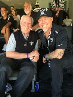 Fred Biletnikoff & James Hetfield .. Raider Nation for Life. METALLICA!!