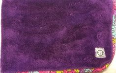 iotababy Purple Floral Boutique Baby Security Blanket Flowers Plush Hard To Find #iotababy