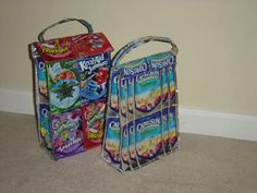 Craft Project: Juice Pouch Lunch Bag   ThriftyFun