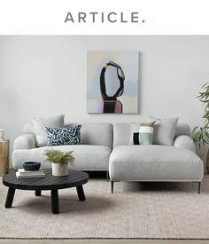Tiny Living Rooms, Living Room Grey, Living Room Sofa, Home Living Room, Living Room Designs, Living Area, Modern Contemporary Living Room, Living Room Modern, Apartment Sofa