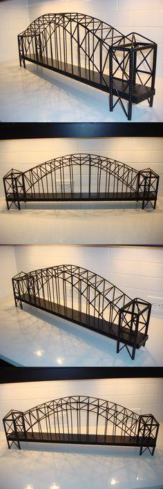Buildings Tunnels and Bridges 117369: 34 Suspension Arch Train Bridge Black Metal Ho S Scale Lionel -> BUY IT NOW ONLY: $139 on eBay!