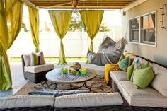 Pergola At Home Depot Refferal: 9655818769 Outdoor Hammock, Outdoor Blinds, Outdoor Curtains, Pergola Curtains, Hammock Ideas, Hang Curtains, Hammocks, Ombre Curtains, Corner Curtains