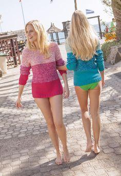 Lana Grossa PULLI IM FARBMIX California - FILATI Muetzen & Accessoires No. 3 - Modell 28   FILATI.cc WebShop