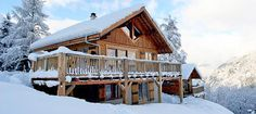 This charming self catered chalet is situated at an altitude of 1275m, high above the Chamonix valley and overlooking the village of Les Houches.    The chalet is one of the few ski in ski out chalets in the Chamonix valley.     It is situated in a magical setting in its own private grounds, and enjoys spectacular views.