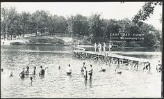 east bay camp lake bloomington Bloomington Illinois, East Bay, Lake Life, Bay Area, Vintage Postcards, The Good Place, The Neighbourhood, Swimming, Camping