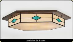 Craftsman Lighting Fixtures and Chanderliers Flush Lighting, Flush Ceiling Lights, Ceiling Light Fixtures, Craftsman Chandeliers, Craftsman Lighting, Decorative Ceiling Lights, Stained Glass Light, Art Deco Decor, Mesas