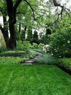 Surprising Tricks: Dream Backyard Garden Inspiration urban backyard garden how to build.Urban Backyard Garden How To Build. Backyard Garden Design, Backyard Landscaping, Landscaping Ideas, Backyard Ideas, Wooded Backyard Landscape, Desert Backyard, Rustic Backyard, Gray Gardens, Woodland Garden
