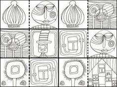 hundertwasser coloring book - Google Search