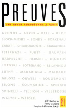 Preuves (French Edition) by Pierre Gremion,.