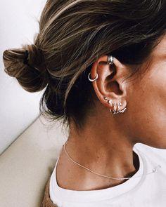 Heart Tragus Earring - Fake Piercings - Faux Piercing - No Piercing Ear Cuff - Tragus Jewelry - Tragus Earring Real Piercing - Custom Jewelry Ideas Cluster Earrings, Heart Earrings, Stud Earrings, Silver Earrings, Diamond Earrings, Faux Piercing, Piercing Tattoo, Tragus, Cartilage Piercings