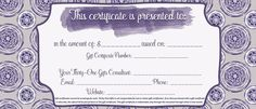 Printable Thirty-One gift certificate for your Thirty-One biz! #ilovemybaglady