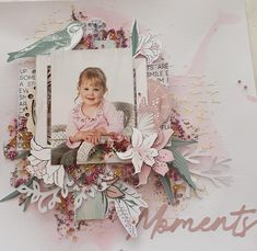 I used the lily and moss collection from Kaisercraft for this layout. Scrapbook Designs, Scrapbooking Layouts, Scrapbook Pages, Handmade Envelopes, Wedding Scrapbook, Pretty Cards, Beautiful Dolls, Wedding Cards, Card Making