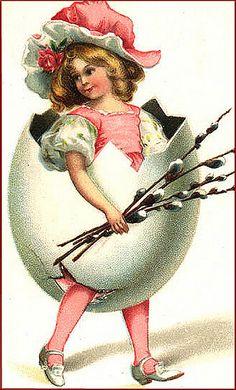 Vintage Easter Illustration - A little strange