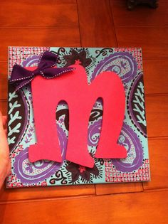 canvas initial boards | Hand painted Canvas with initial | Crafts to make...