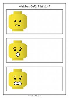 Mit Lego Gefühle erkunden #Lego #schreiben #sprechen