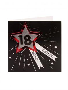 Silver Star 18th Birthday Card.. nice idea