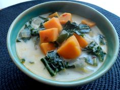 Coconutty Kale and Sweet Potato Soup