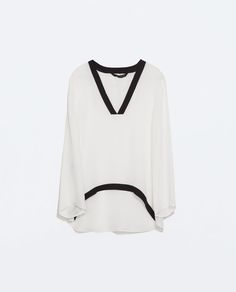 ZARA - WOMAN - V-NECK TOP