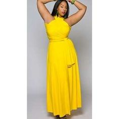 Canary Yellow Plus Size Dresses