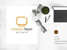 Computer repair / Hardware fixing logo by BdThemes Computer Repair, Hardware, Graphics, Logo, Logos, Graphic Design, Computer Hardware, Printmaking, Environmental Print