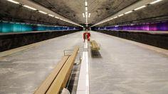 Metrostation Bagarmossen... Wie in einem Raumschiff!