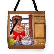 Latte Linger Tote Bag by Susan Garren