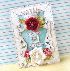 A frame by Karola Witczak that I found on Scrapbook.com.  She is amazing!