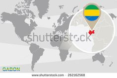 World Map Magnified Benin Benin Flag Stock Vector (Royalty Free) 261395735 Iceland Flag, Norway Flag, Riga, Vatican City Flag, Togo Flag, Montenegro Flag, Cameroon Flag, Malta Flag, Blue Nails