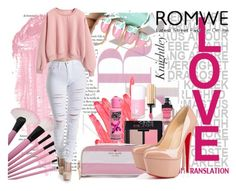 """romwe"" by ash-onfleek ❤ liked on Polyvore featuring By Terry, Ilia, NARS Cosmetics, Kate Spade, Yves Saint Laurent, Christian Louboutin, Cotton Candy and Pink"