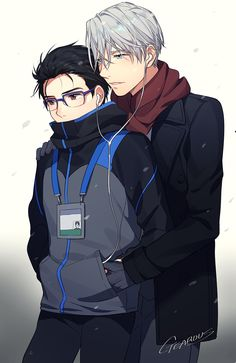 Yuri on Ice - Victor & Yuuri by GEAROUS/ギア on pixiv. . . I've just finish watching the anime today. Gorgeous