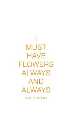 Claude Monet // flowers