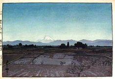 hanga gallery . . . torii gallery: Fujiyama from Musashino by Hiroshi Yoshida
