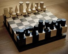 Chess Sets - Chess is a board game that has stood the test of time and has provided countless hours of entertainment for many chess fans, browse chess sets here! Diy Chess Set, Modern Chess Set, Chess Set Unique, Chess Sets, Wood Projects, Woodworking Projects, Chess Players, Got Wood, Chess Pieces