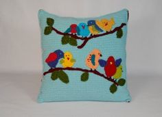 Birds Just Hanging Out Pillow