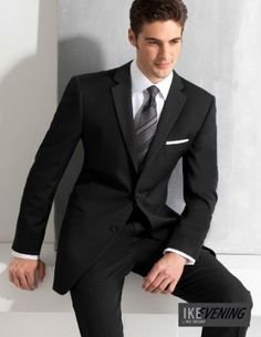 Charcoal birdseye tailored fit suit | Men's business suits from