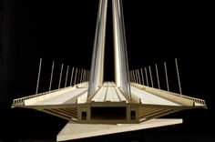 The Ada Bridge / Arhitektura d.o.o. Model Section