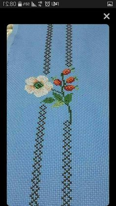 This Pin was discovered by Zül Cross Stitch Bookmarks, Cross Stitch Rose, Cross Stitch Flowers, Cross Stitch Charts, Cross Stitch Designs, Cross Stitch Patterns, Crewel Embroidery, Hand Embroidery Patterns, Cross Stitch Embroidery