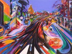 Leandro Manzo Los Angeles Boulevard 26.5 x 20 in