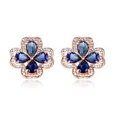 Amazon.com: Stud Earrings Solid 14 karat Gold post Swarovski Pure Brilliance CZ 1.5ct to 4ct: Jewelry